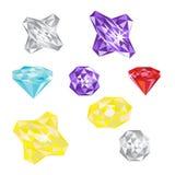 Set of gems Royalty Free Stock Image
