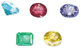 Set of gems collection Stock Images