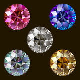 Set of Gems. Royalty Free Stock Images