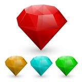 Set of gems Stock Photography