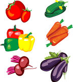 Set Gemüse Stockfoto