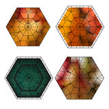 Set of gemstone  pattern Stock Images