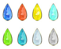Set gemstones Stock Photo