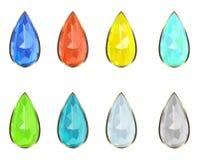 Set gemstones Stock Photo