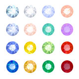 Set gemstones Stock Image