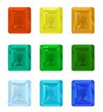 Set gemstones Royalty Free Stock Images