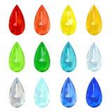 Set gemstones Royalty Free Stock Image