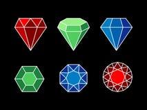 Set of gemstones Royalty Free Stock Photography