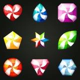 Set of gemstones for game