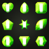 Set of gemstones for game Royalty Free Stock Photos