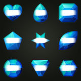 Set of gemstones for game Stock Images