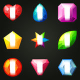 Set of gemstones for game Stock Photo