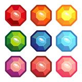 A set of gemstones in the shape of an octagon Royalty Free Stock Photo