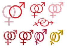 Set of gender symbols Royalty Free Stock Photography