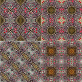 Set of generated textures with ornamental motifs Royalty Free Stock Photo