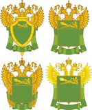 Set of generic Russian Customs emblem templates Stock Photos