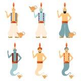Set of Genies Royalty Free Stock Image