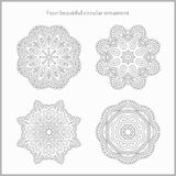 Set gentle and light circular ornament. Mandala. Vintage decorative elements. Set of beautiful ethnic, oriental ornaments. Set gentle and light circular Royalty Free Stock Image