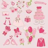 Wedding set Stock Images