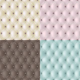 Set genuine leather texture in 4 colours. Stock Photography