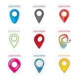 Set geolocation logowie royalty ilustracja