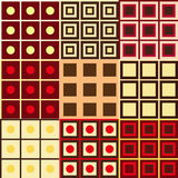Set geometria wzory Zdjęcia Stock