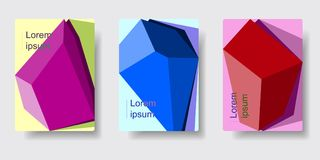 Geometric Absract background. Set of geometric absract backgrounds. Applicable for poster, brochure, flyer, template. Cover design. Vector illustration EPS 10 Stock Images