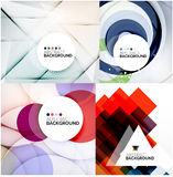 Set of geometric abstract backgrounds Stock Image