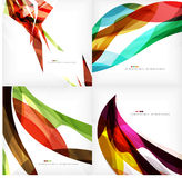 Set of geometric abstract backgrounds Stock Photo
