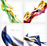 Set of geometric abstract backgrounds Royalty Free Stock Photos