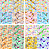 Set of geometric Abstract colorfull wave seamless pattern. the fabric. Scales vector background Royalty Free Stock Images