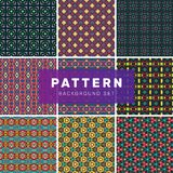 Set of geometric abstract patterns stock illustration