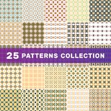 Set of 25 geometric abstract patterns royalty free stock photo