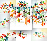 Set of geometric abstract polygonal backgrounds. Modern business fresh templates Stock Photo