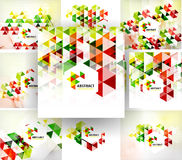 Set of geometric abstract polygonal backgrounds. Modern business fresh templates Stock Photography
