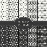 Set of geometric abstract seamless polygon pattern Royalty Free Stock Images