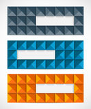 Set of geometric banners Stock Photography