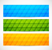 Set of geometric banners Royalty Free Stock Photo