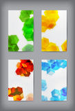 Set of  geometric banners for modern design. Royalty Free Stock Photos