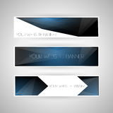 Set of geometric banners Stock Image