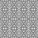 A Set geometric of black and white seamless. Vector format seamless pattern new style. Modern abstract textures royalty free illustration