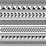 Set of geometric borders vector illustration