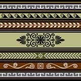 Set of geometric borders Stock Image