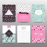 Set of Geometric Brochures and Cards Stock Image