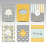 Set of Geometric Brochures and Cards Royalty Free Stock Photography