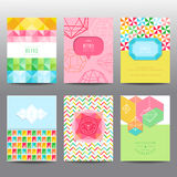 Set of Geometric Brochures and Cards Royalty Free Stock Image