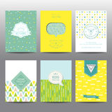 Set of Geometric Brochures and Cards Royalty Free Stock Photo