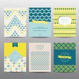 Set of Geometric Brochures and Cards Stock Photo