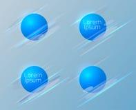 Set of geometric circular banners. Royalty Free Stock Image