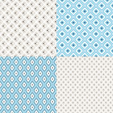 Set of geometric colorful seamless patterns Royalty Free Stock Photography